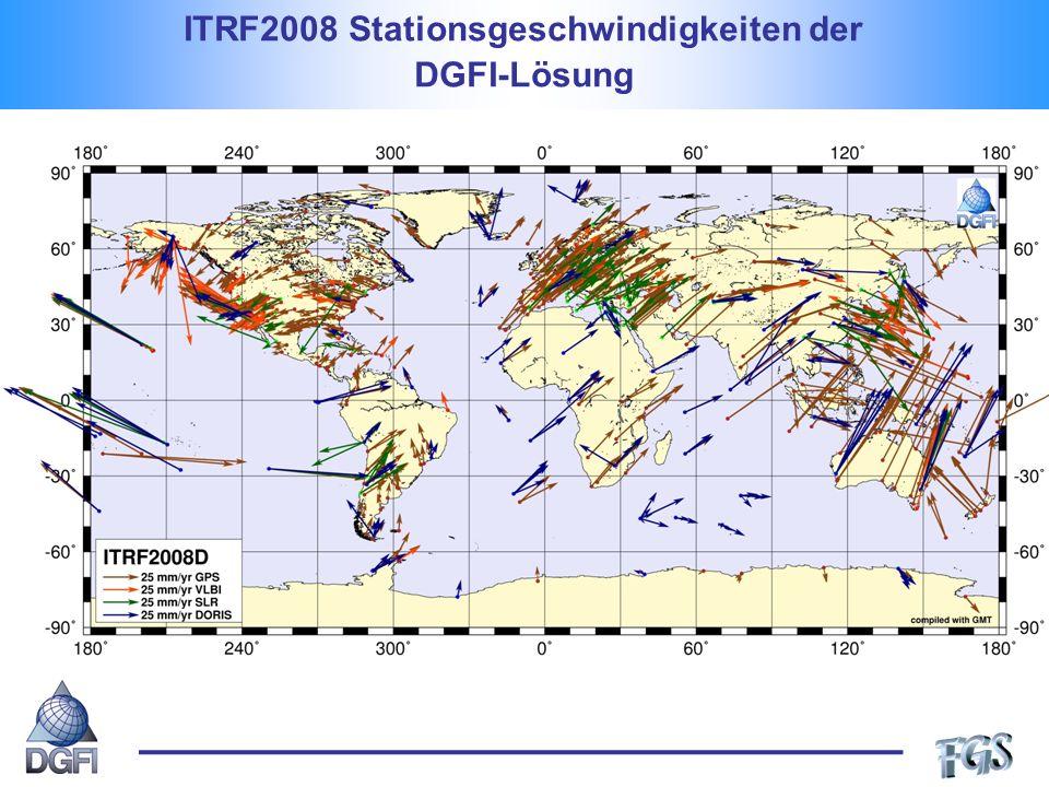 ITRF2008 Stationsgeschwindigkeiten der DGFI-Lösung