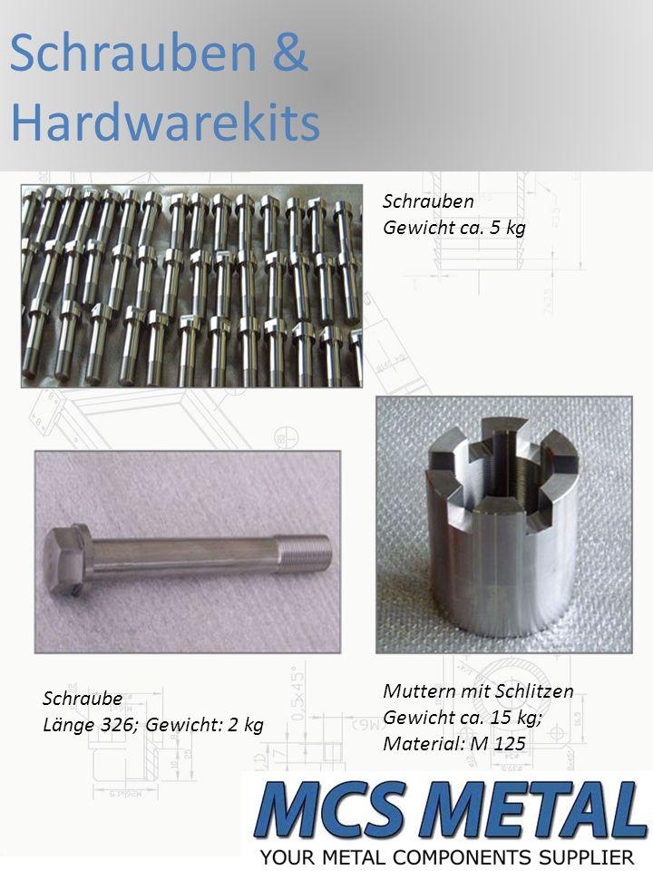 Komponenten Kreuzgelenk für den Weichbau Dreh- und Frästeile Gewicht 3,5 kg Kühlerverschraubung Gewicht ca.