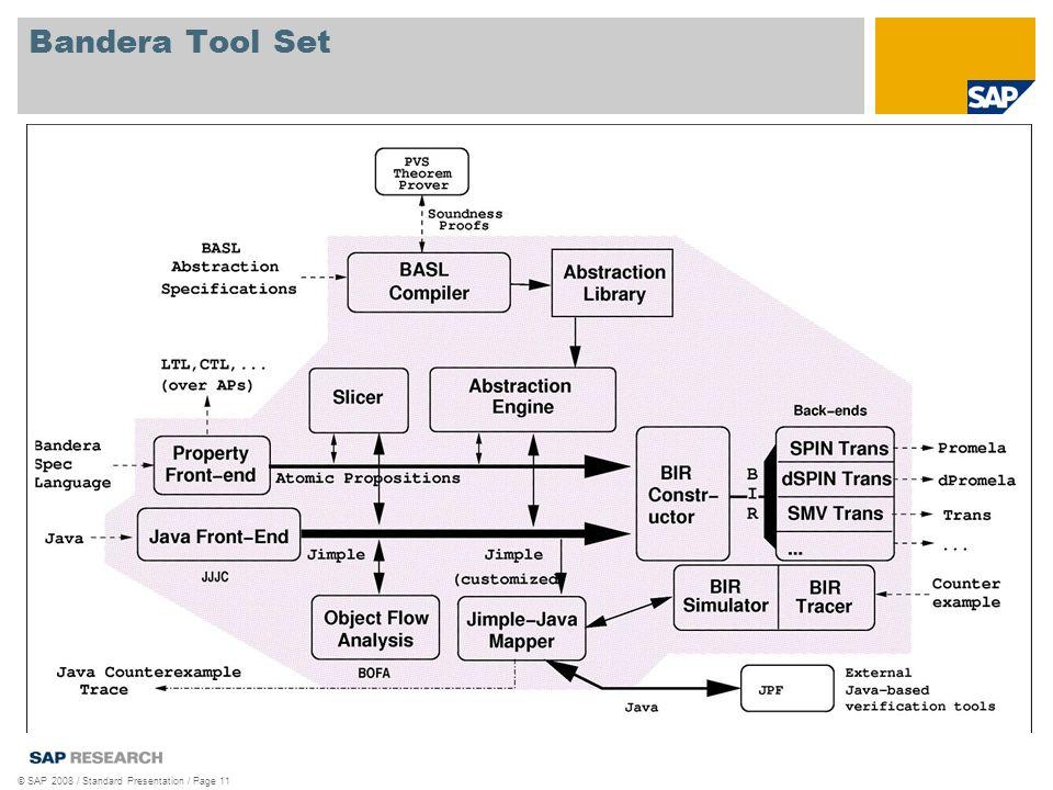 © SAP 2008 / Standard Presentation / Page 11 Bandera Tool Set