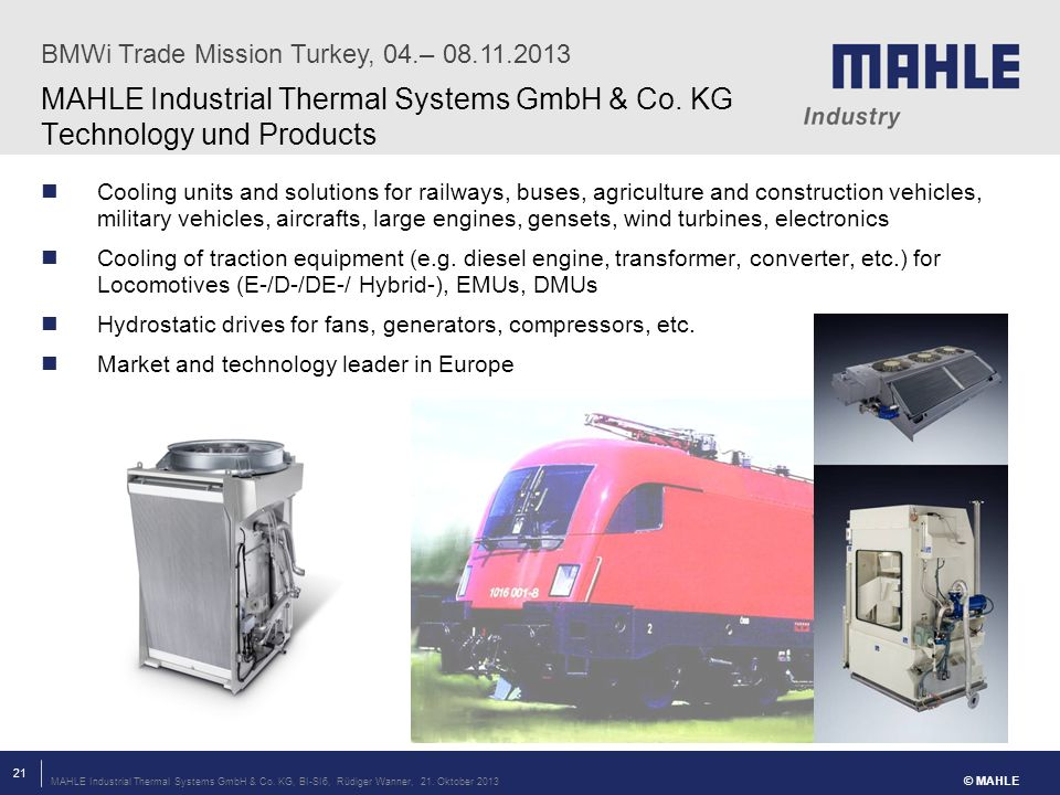 MAHLE Industrial Thermal Systems GmbH & Co.KG, BI-SI6, Rüdiger Wanner, 21.