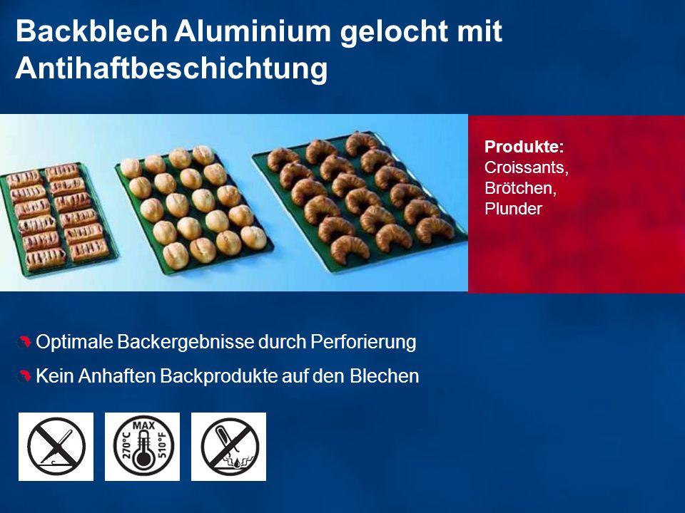 Backblech Aluminium gelocht mit Antihaftbeschichtung Optimale Backergebnisse durch Perforierung Kein Anhaften Backprodukte auf den Blechen Produkte: C