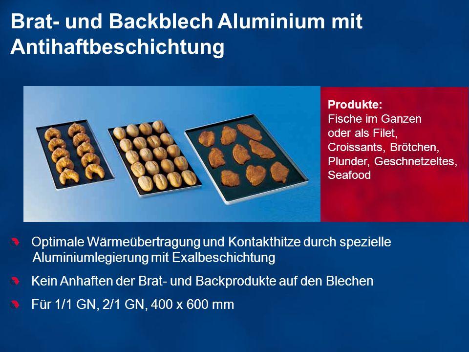 Brat- und Backblech Aluminium mit Antihaftbeschichtung Optimale Wärmeübertragung und Kontakthitze durch spezielle Aluminiumlegierung mit Exalbeschicht