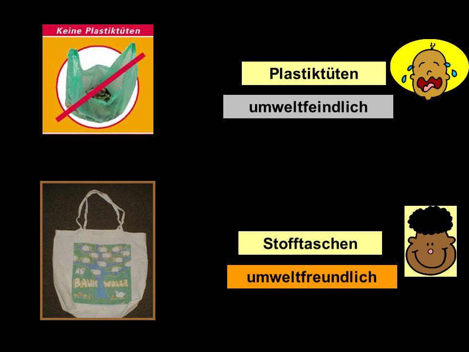 Plastiktüten umweltfeindlich Stofftaschen umweltfreundlich