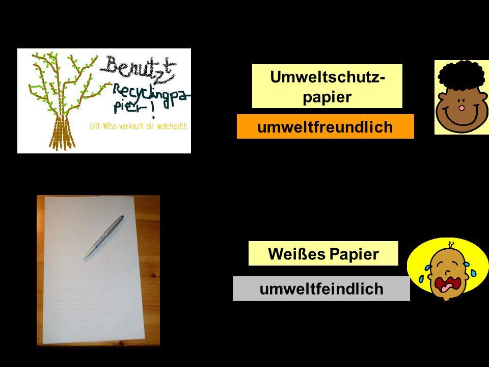 Umweltschutz- papier umweltfeindlich Weißes Papier umweltfreundlich