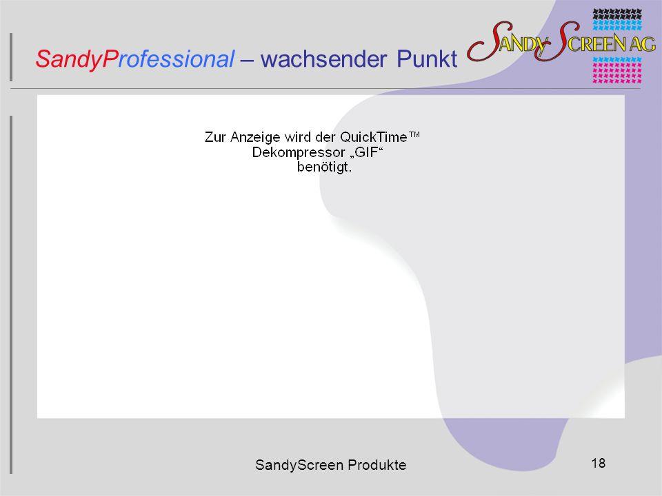 SandyProfessional – wachsender Punkt SandyScreen Produkte 18