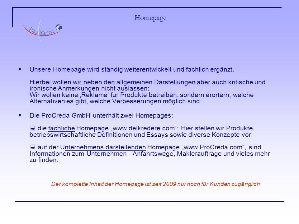 Homepage Unsere Homepage wird ständig weiterentwickelt und fachlich ergänzt.