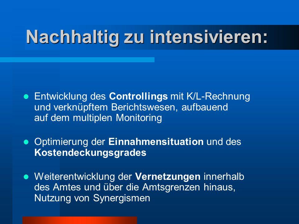 Nachhaltig zu intensivieren: Entwicklung des Controllings mit K/L-Rechnung und verknüpftem Berichtswesen, aufbauend auf dem multiplen Monitoring Optim