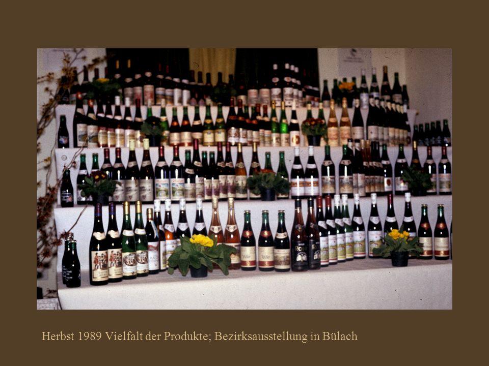Herbst 1989 Vielfalt der Produkte; Bezirksausstellung in Bülach