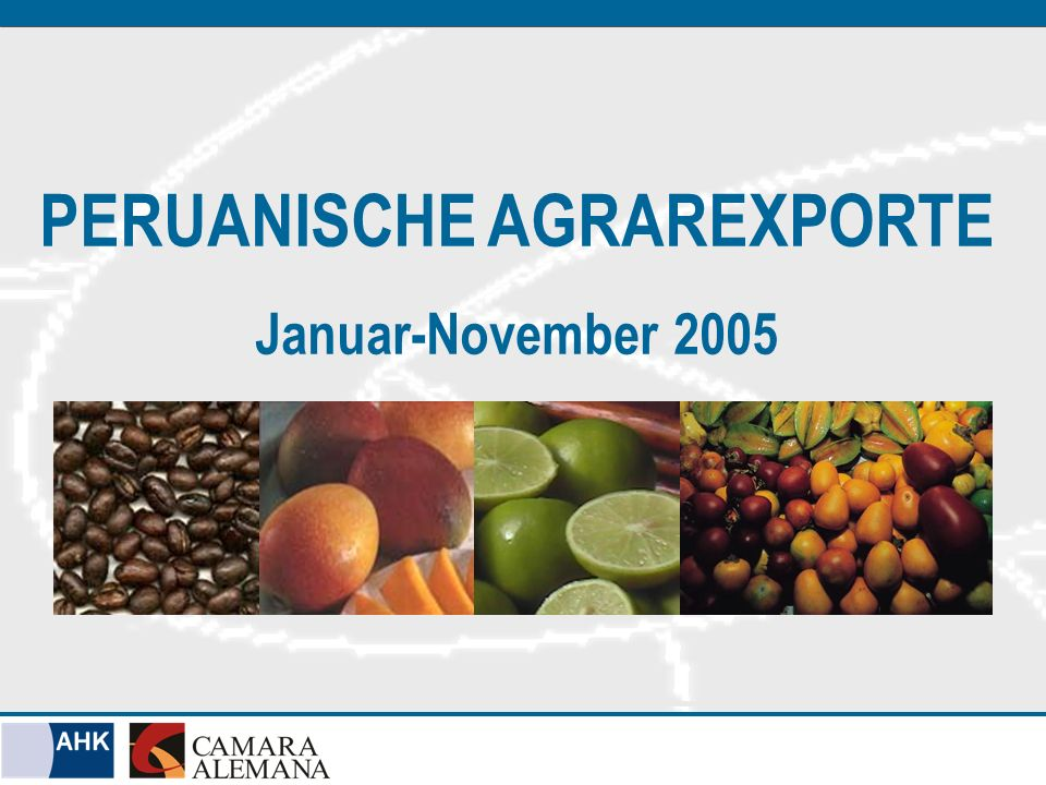 PERUANISCHE AGRAREXPORTE Januar-November 2005