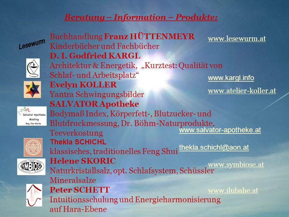 Beratung – Information – Produkte: Buchhandlung Franz HÜTTENMEYR Kinderbücher und Fachbücher D. I. Godfried KARGL Architektur & Energetik, Kurztest: Q