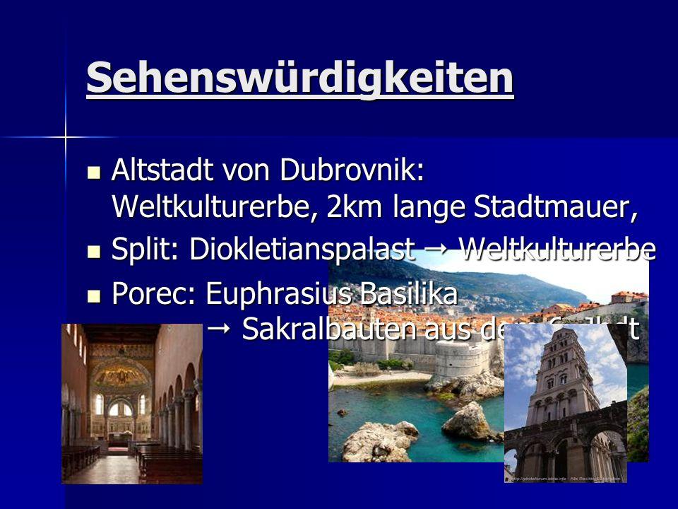 Sehenswürdigkeiten Altstadt von Dubrovnik: Weltkulturerbe, 2km lange Stadtmauer, Altstadt von Dubrovnik: Weltkulturerbe, 2km lange Stadtmauer, Split: