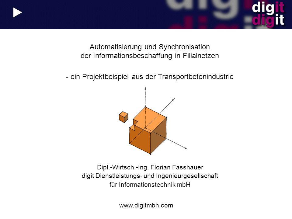 www.digitmbh.com Dipl.-Wirtsch.-Ing. Florian Fasshauer digit Dienstleistungs- und Ingenieurgesellschaft für Informationstechnik mbH Automatisierung un