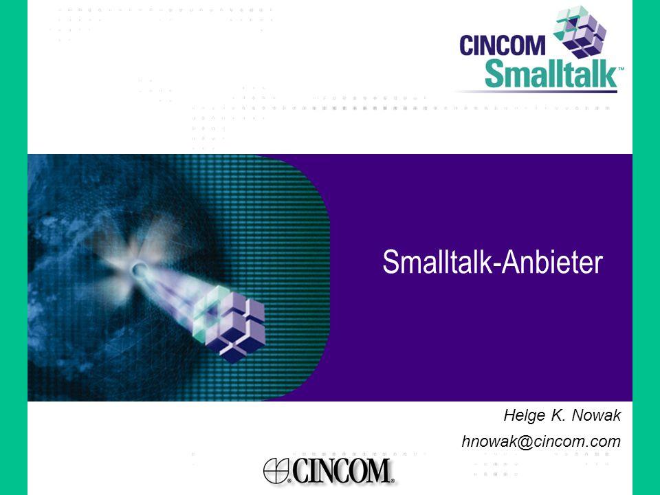 Smalltalk Geschichte I 60-er Jahre: Einflüsse von Simula, Common Lisp, Logo, Sketchpad,… 70-er: Xerox PARC Smalltalk-71, Smalltalk-72, Smalltalk-74, Smalltalk-76, Smalltalk-80 80-er: Kommerzialisierung ParcPlace ObjectWorks, VisualWorks Digitalk Smalltalk/V, Visual Smalltalk Knowledge System Corporation Enfin Smalltalk