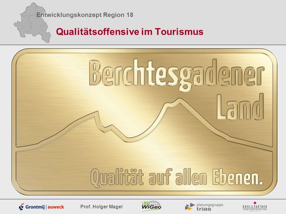 Entwicklungskonzept Region 18 Prof. Holger Magel Qualitätsoffensive im Tourismus