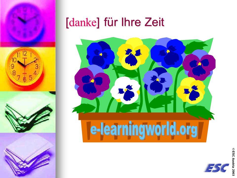 © ESC Austria 2003 [danke] für Ihre Zeit