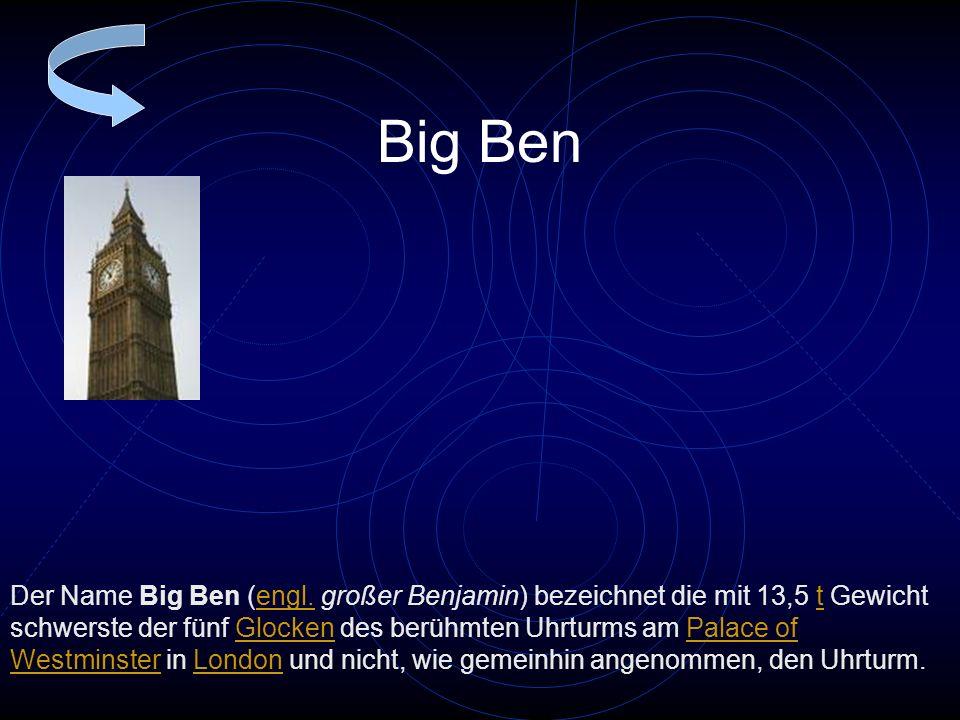 Big Ben Der Name Big Ben (engl.