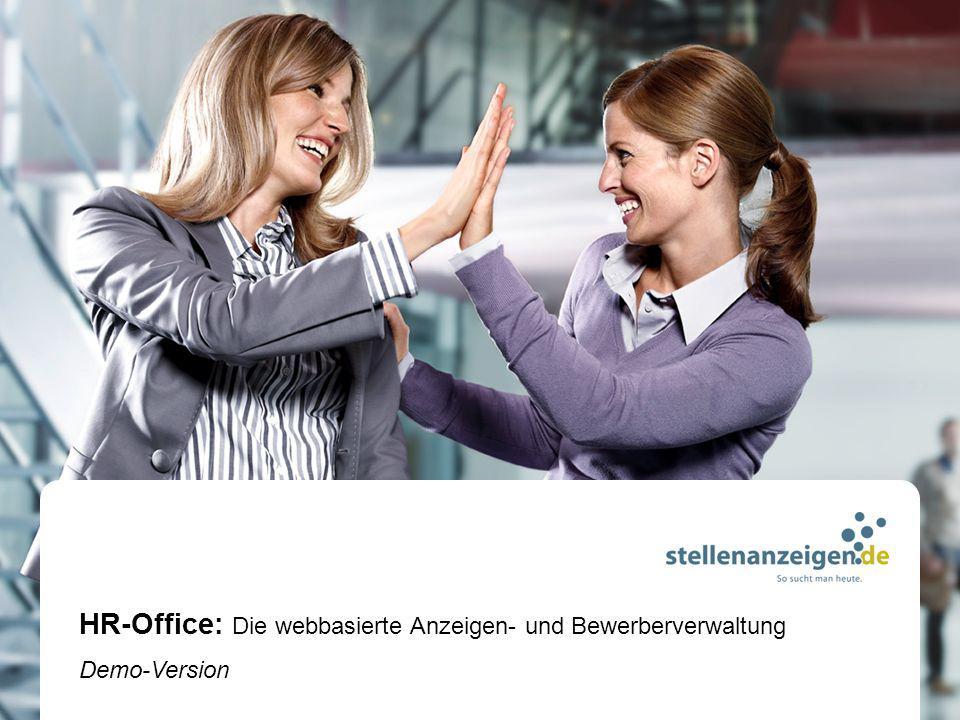 HR-Office: Die webbasierte Anzeigen- und Bewerberverwaltung Demo-Version