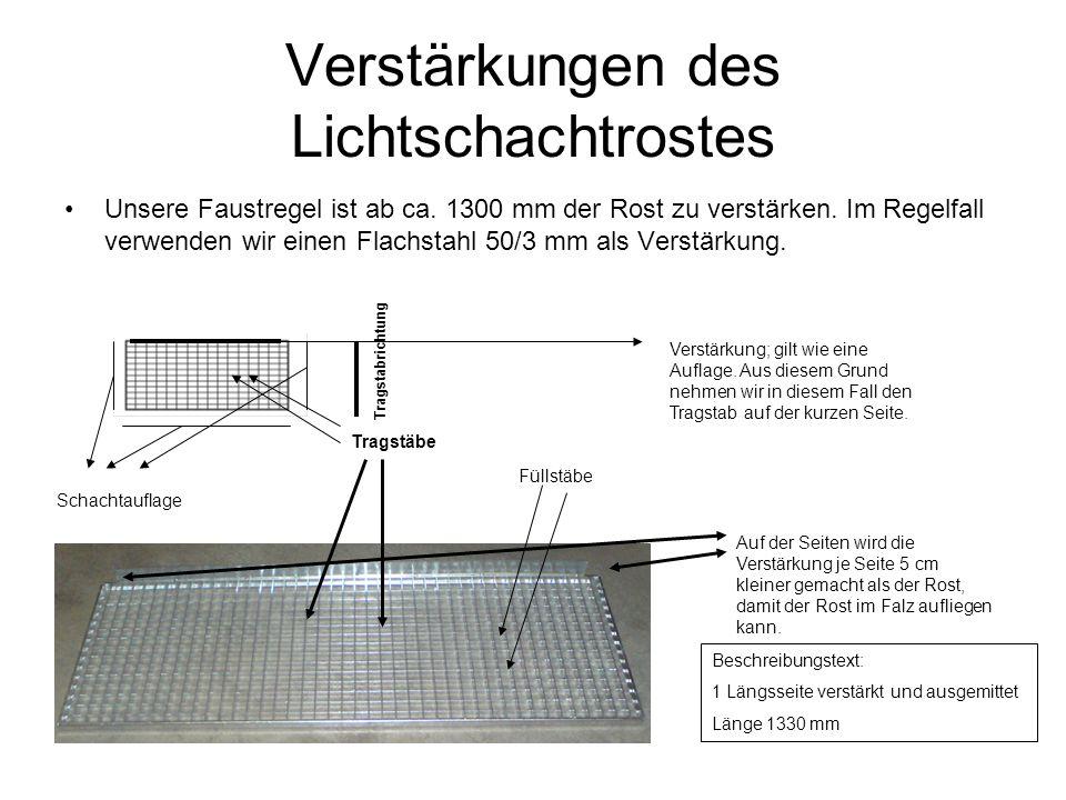 Maschenteilung 10/30 mm Ist alle 10 mm einen Tragstab Und alle 30 mm einen Füllstab (mit 10 mm Tragabstand ist der Rost stärker dimensioniert) Alle 10