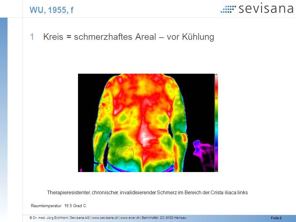 © Dr. med. Jürg Eichhorn ¦ Sevisana AG ¦ www.sevisana.ch ¦ www.ever.ch ¦ Bahnhofstr. 23 ¦ 9100 Herisau Folie 2 WU, 1955, f 1 Kreis = schmerzhaftes Are