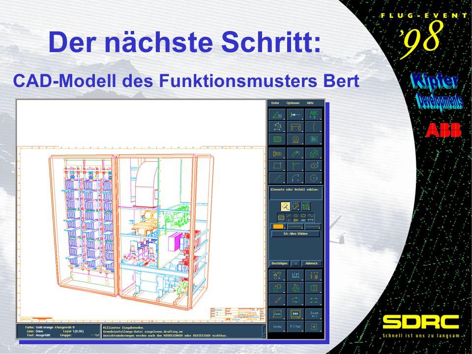 Der nächste Schritt: CAD-Modell des Funktionsmusters Bert