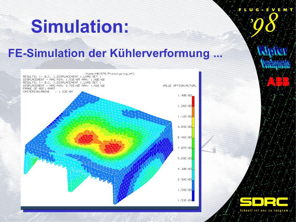 Simulation: FE-Simulation der Kühlerverformung...