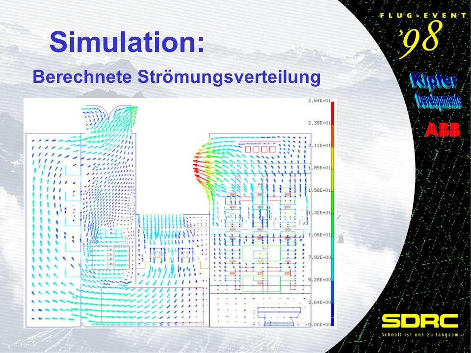 Simulation: Berechnete Strömungsverteilung