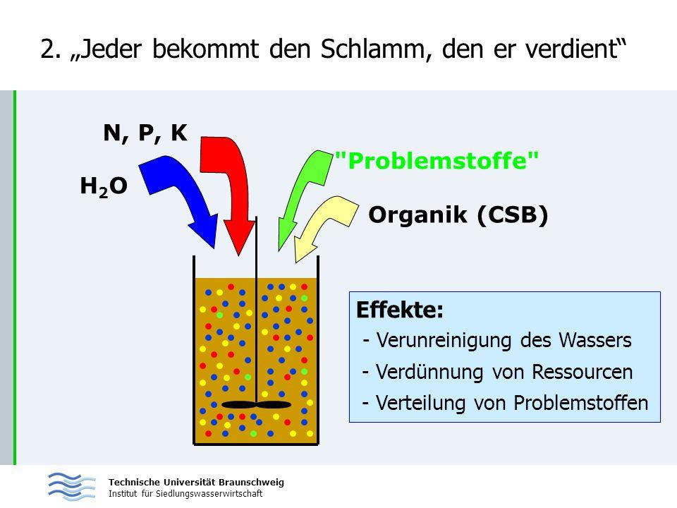 Technische Universität Braunschweig Institut für Siedlungswasserwirtschaft H2OH2O N, P, K Organik (CSB)