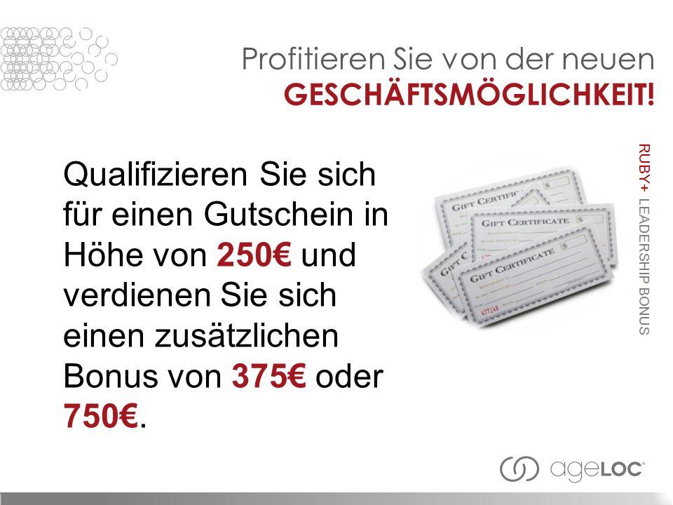 Qualifizieren Sie sich für einen Gutschein in Höhe von 250 und verdienen Sie sich einen zusätzlichen Bonus von 375 oder 750.