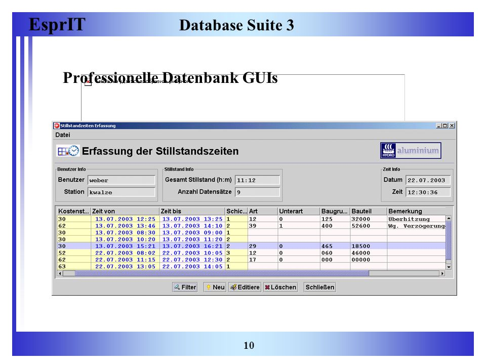 EsprIT 10 Database Suite 3 Professionelle Datenbank GUIs