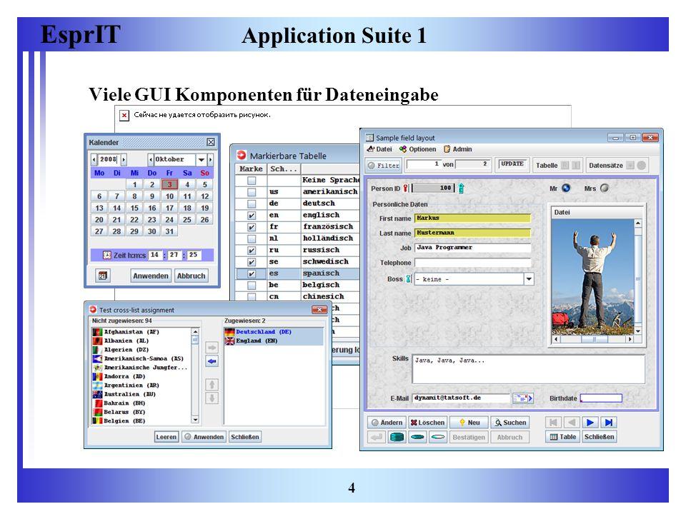 EsprIT 5 Application Suite 2 Dialoge, Wizzards, Monitore, Editoren etc…