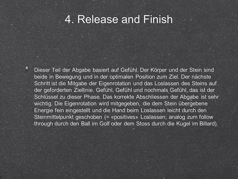 4. Release and Finish Dieser Teil der Abgabe basiert auf Gefühl.