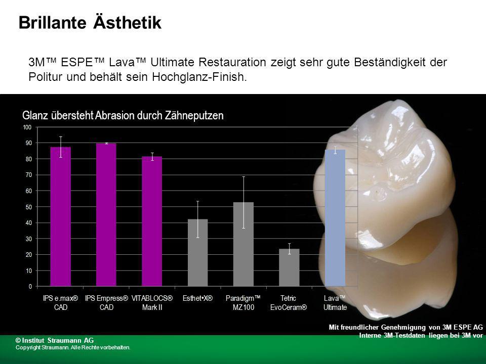 3M ESPE Lava Ultimate Restauration zeigt sehr gute Beständigkeit der Politur und behält sein Hochglanz-Finish.