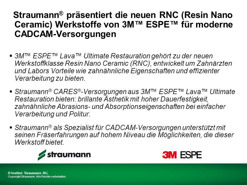 © Institut Straumann AG Copyright Straumann.Alle Rechte vorbehalten.