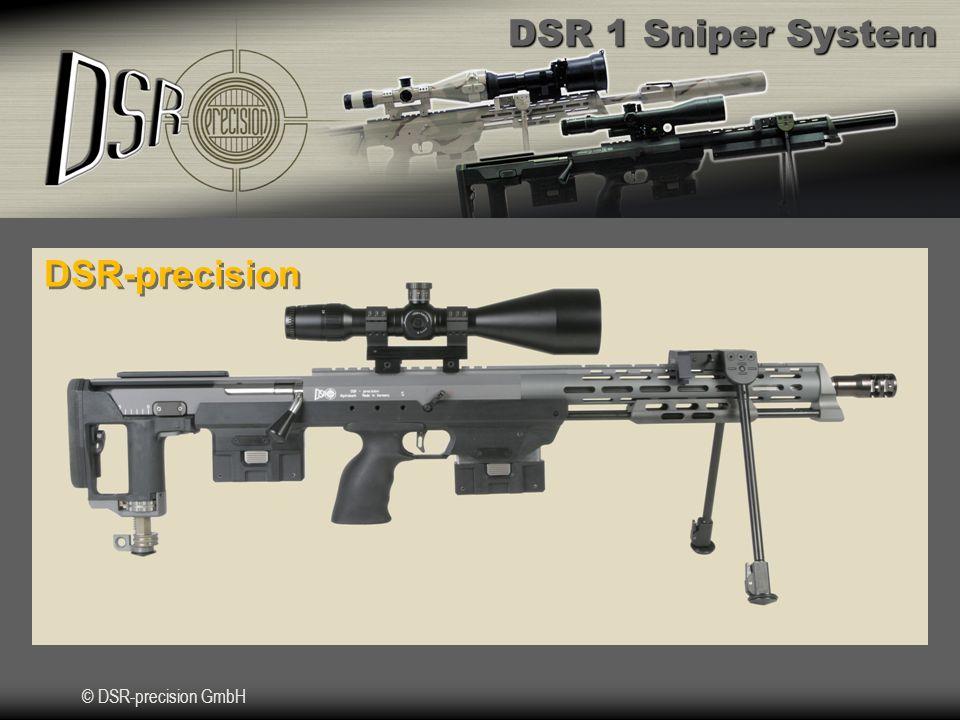 DSR 1 Sniper System © DSR-precision GmbH Kaliber Vergleich.308 Win.