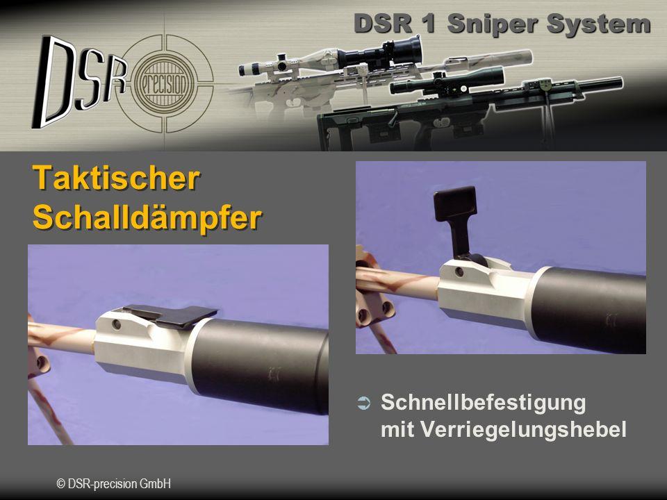 DSR 1 Sniper System © DSR-precision GmbH Taktischer Schalldämpfer Schnellbefestigung mit Verriegelungshebel