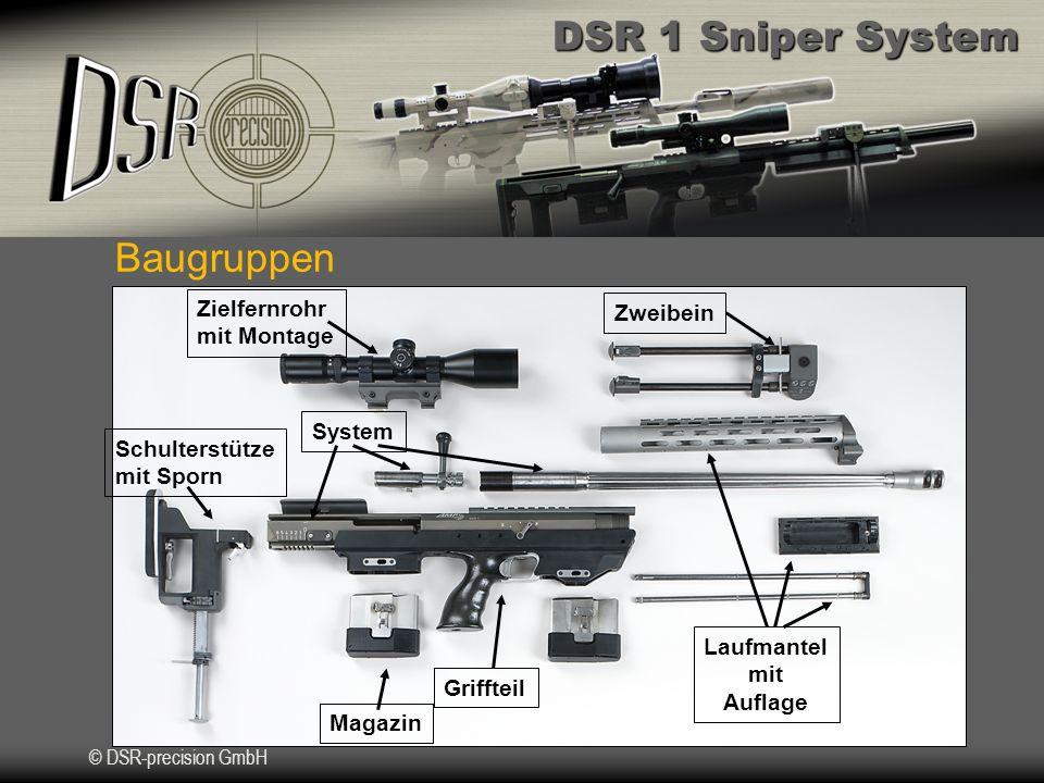 DSR 1 Sniper System © DSR-precision GmbH Firmenprofil II Wir kooperieren mit Munitions- und Zubehörherstellern um Kompletsysteme für polizeiliche und militärische Anwendung zu liefern.