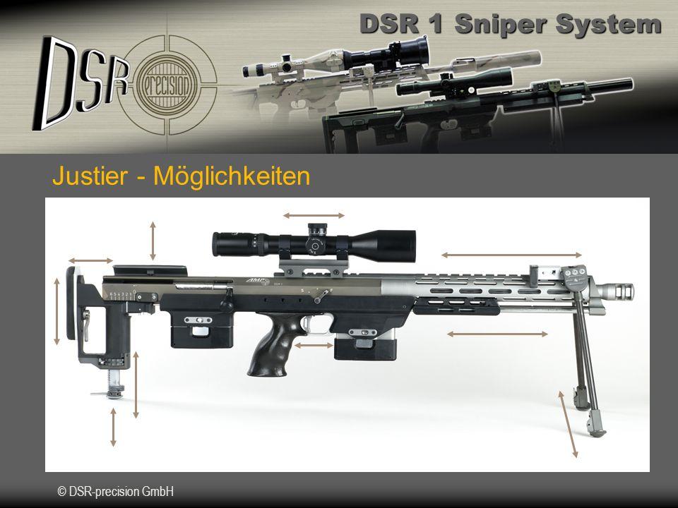 DSR 1 Sniper System © DSR-precision GmbH Integrierter Schalldämpfer DSR 1 Subsonic Munition 7,62 x 51Subsonic