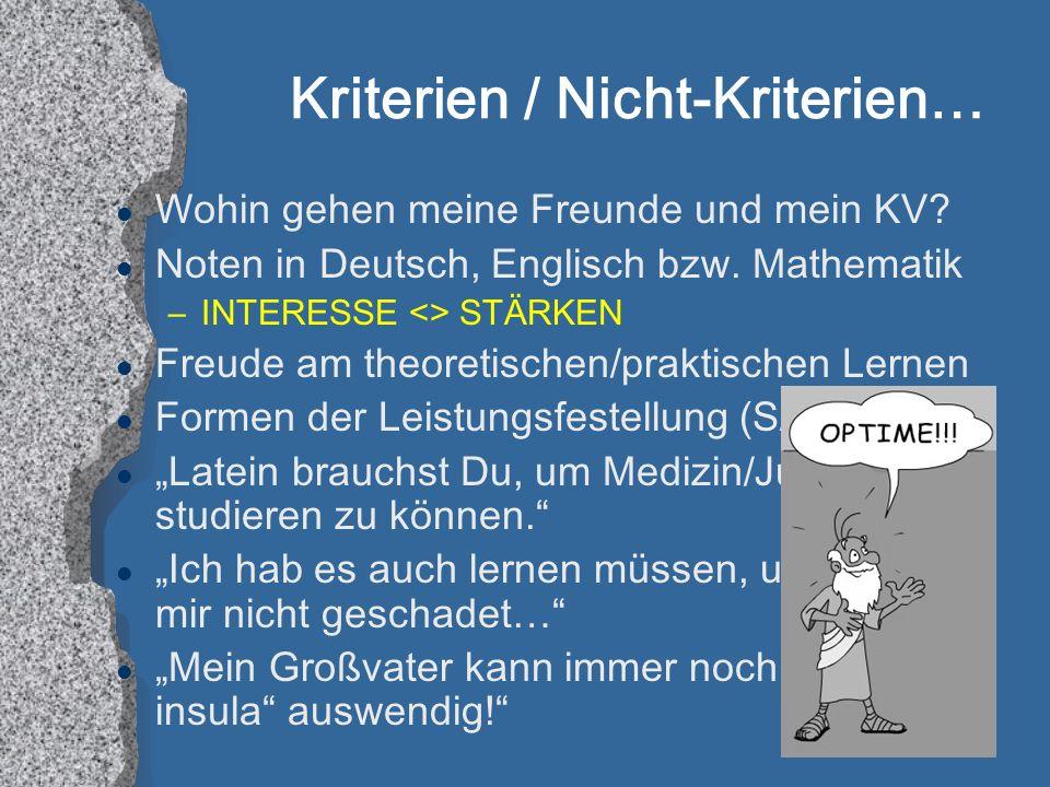 l Wohin gehen meine Freunde und mein KV.l Noten in Deutsch, Englisch bzw.