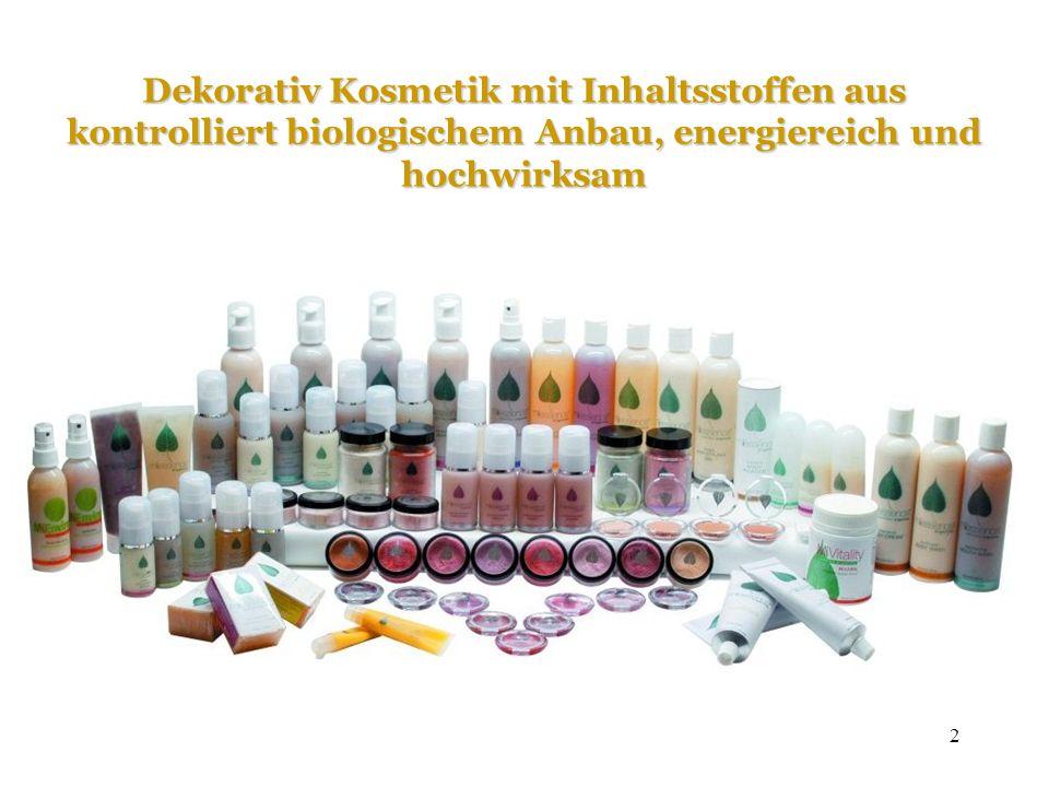 2 Dekorativ Kosmetik mit Inhaltsstoffen aus kontrolliert biologischem Anbau, energiereich und hochwirksam