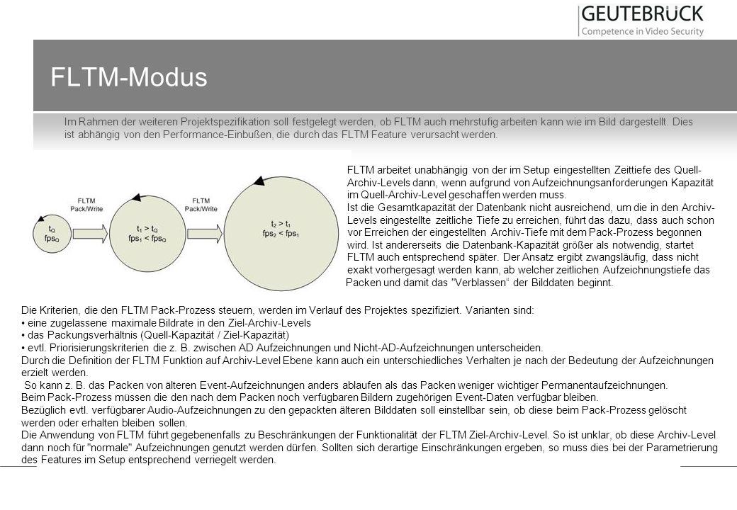 FLTM-Modus Im Rahmen der weiteren Projektspezifikation soll festgelegt werden, ob FLTM auch mehrstufig arbeiten kann wie im Bild dargestellt. Dies ist