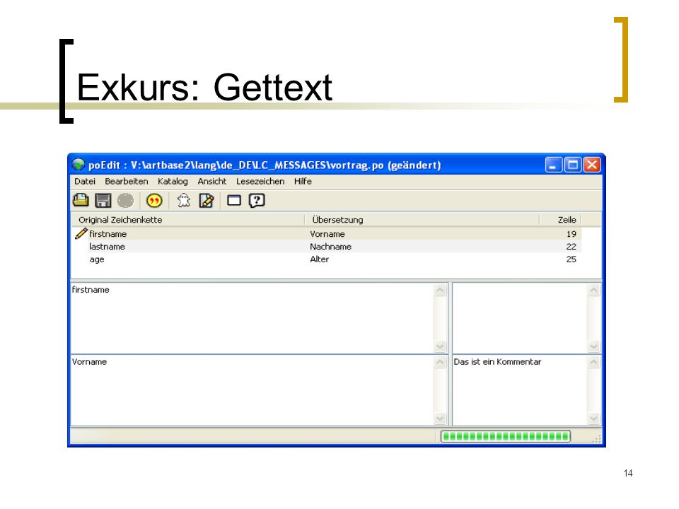 14 Exkurs: Gettext