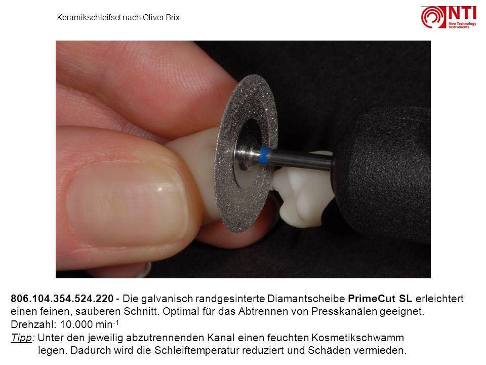 806.104.354.524.220 - Die galvanisch randgesinterte Diamantscheibe PrimeCut SL erleichtert einen feinen, sauberen Schnitt. Optimal für das Abtrennen v