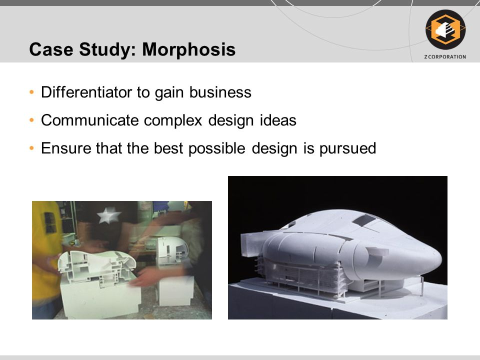 Case Study: Morphosis Differentiator to gain business Communicate complex design ideas Ensure that the best possible design is pursued