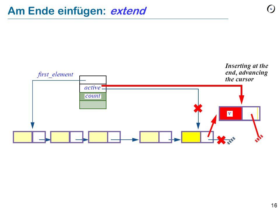 16 Am Ende einfügen: extend