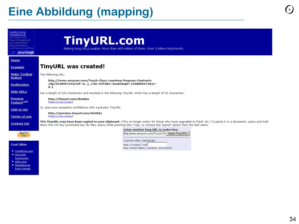 34 Eine Abbildung (mapping)