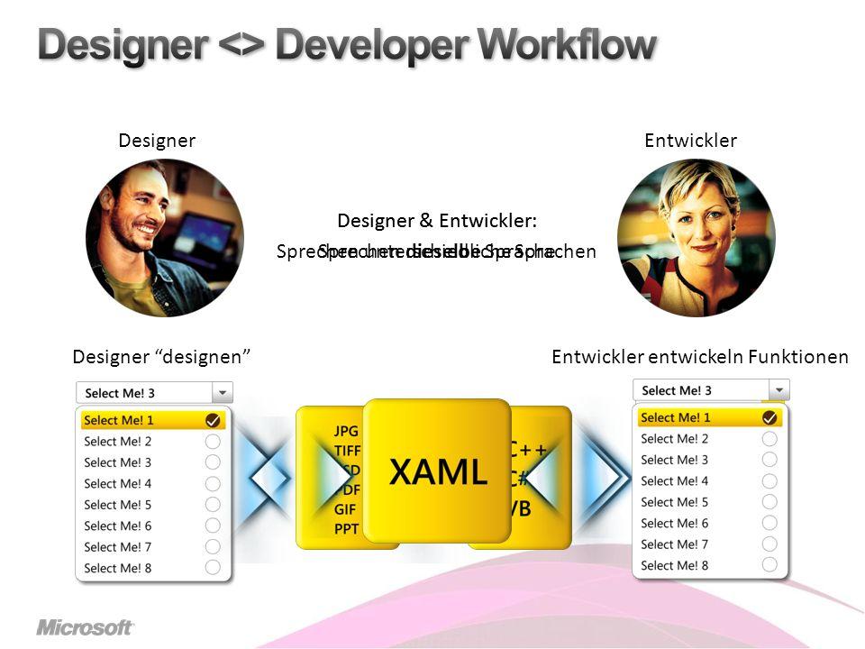 Designer & Entwickler: Sprechen unterschiedliche Sprachen Designer designenEntwickler entwickeln Funktionen DesignerEntwickler Designer & Entwickler: