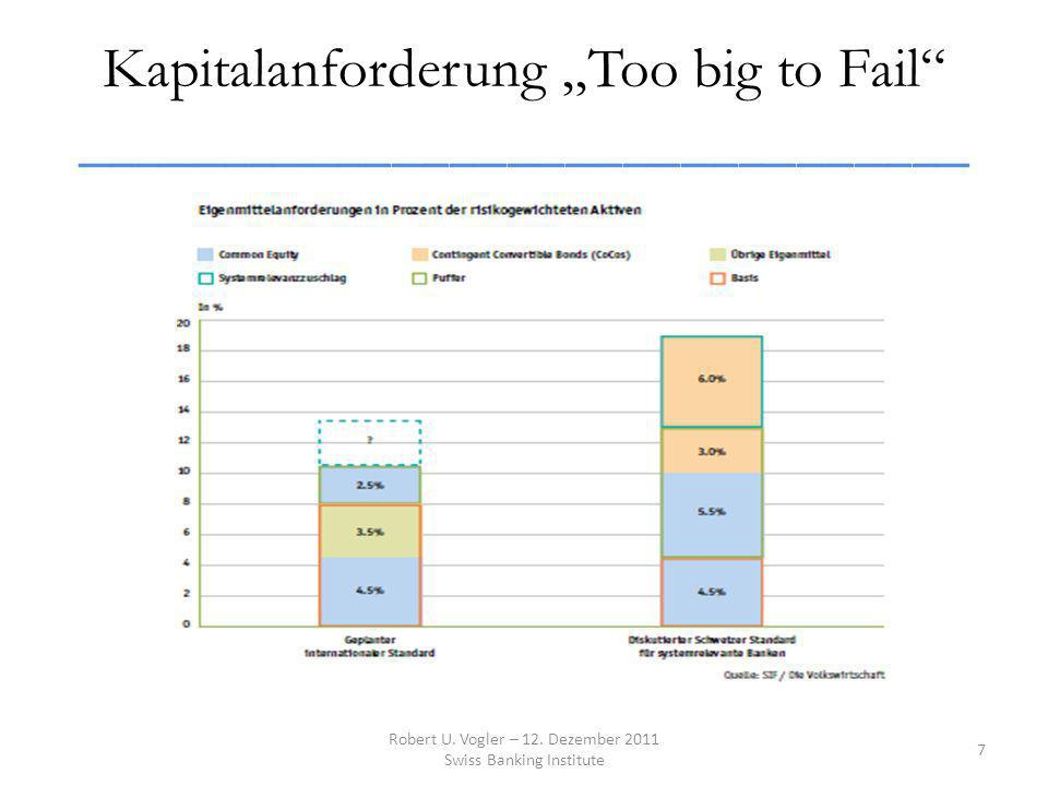 Kapitalanforderung Too big to Fail _______________________________ ______ Robert U.