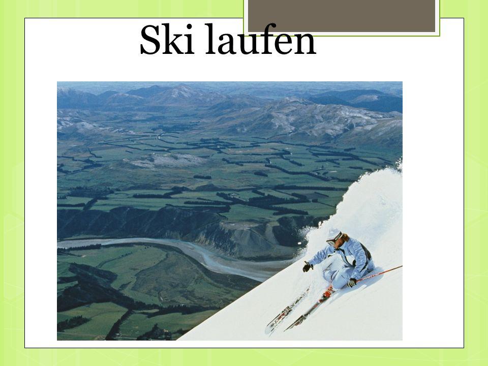 Ski laufen