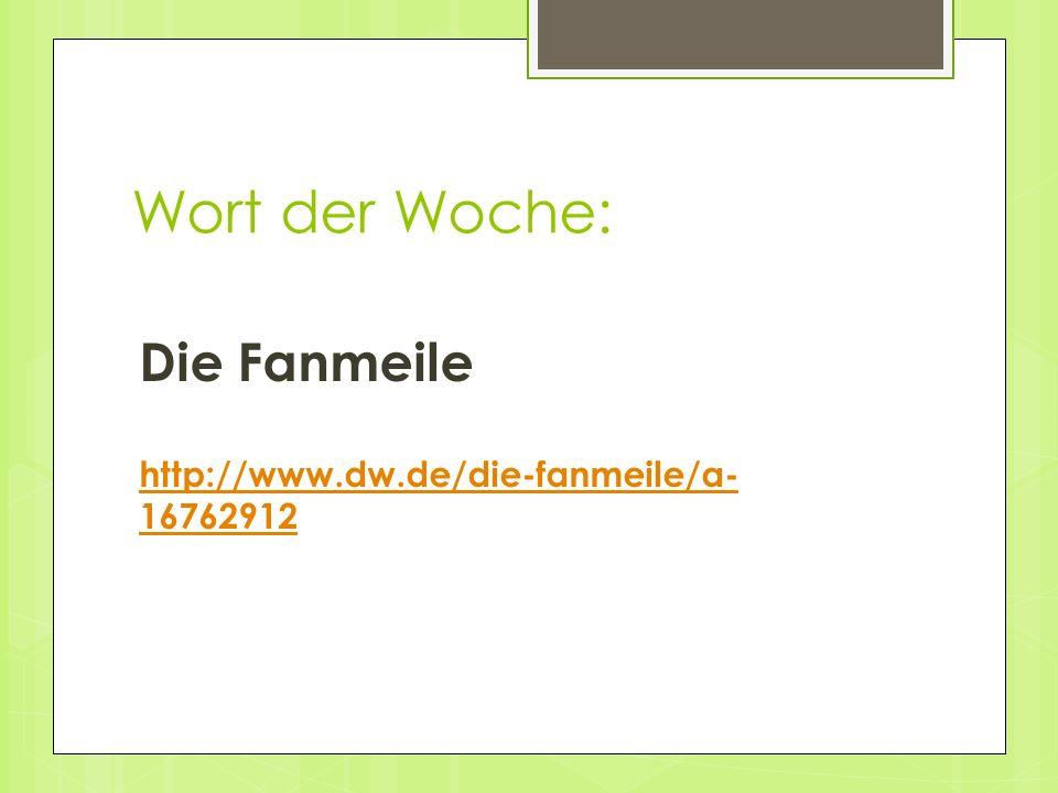 Wort der Woche: Die Fanmeile http://www.dw.de/die-fanmeile/a- 16762912