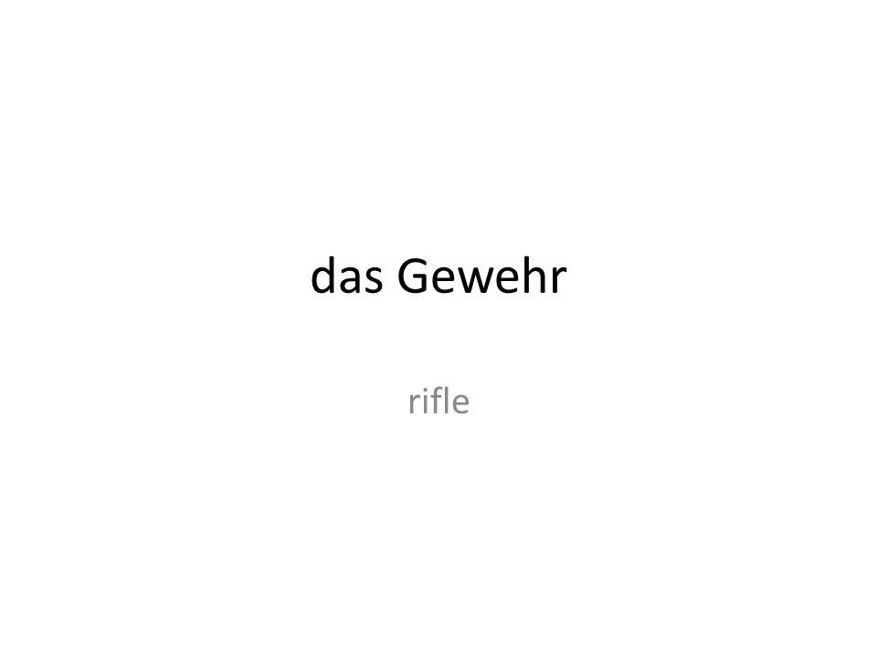 das Gewehr rifle